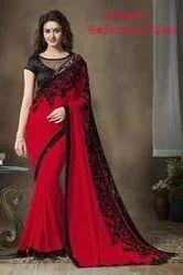 Bridal Wear Ladies Designer Saree, With Blouse Piece