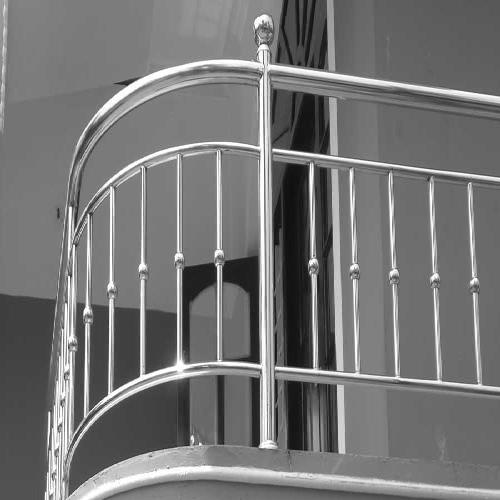 Silver Metallic Grey Stainless Steel Balcony Railing Rs 199 Feet