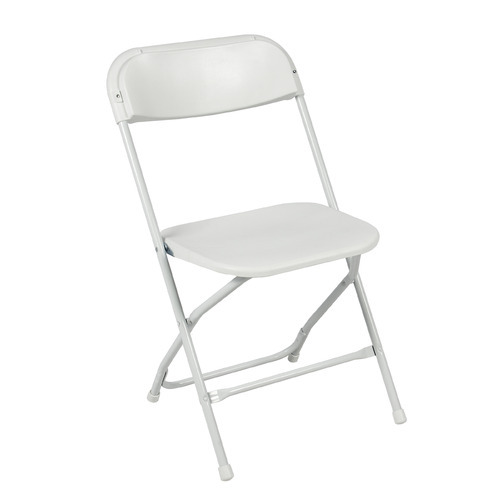 White Plastic Folding Chair for Hotel, Dimension: 440 x 440 x 800 mm