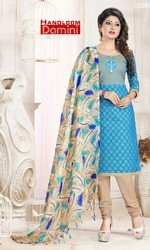 Cotton Unstitched Handloom Designer Suit