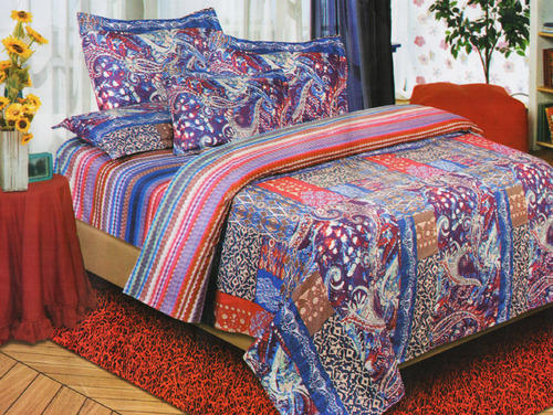 Multicolor Fl Print Poly Cotton Bed Sheet Packaging Type Set Ng