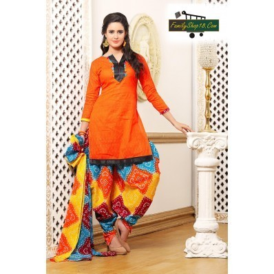 97d54a1037 Cotton Printed Unstitched Patiala Suit Dress Material at Rs 655 ...