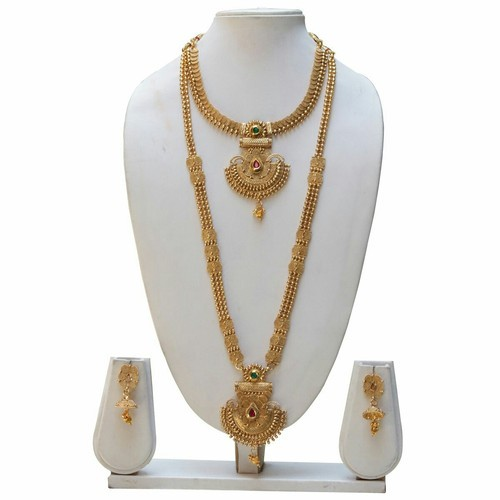 4d25159eb9c4d Gold Covering Haram With Necklace Set