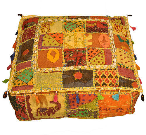 Indian Ottomans Poufs Vintage Fabric Ottomans Cover At Rs 40 Piece Custom Indian Pouf Covers