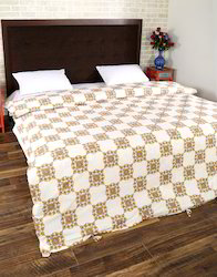 Double Bed Cotton Block Printed Floral Duvet Cover Set