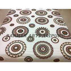 Cotton Suzani Embroidery Chakar Para Bed Cover