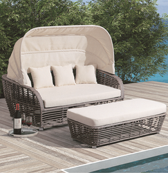 Cart Style 2 Wicker Day Bed