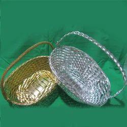 Metal Oval Handle Basket