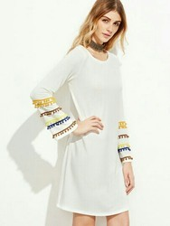 White Women Tunic Top