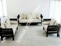 Black Stylish Wooden Sofa Set Without Cushion Rs 18500 Set Id