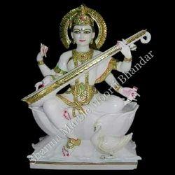 Lord Saraswati Marble Sculpture