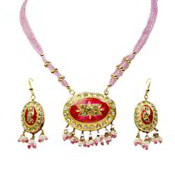Rajasthani Lacquer Necklace Jewelry Set 101