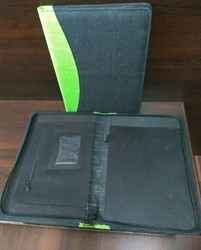 Jute Conference Folder with Zip