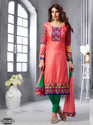 Cotton Embroidery Semi Stitched Salwar Suit