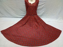 Ladies Maroon Cotton One Piece Dress