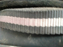 Grey White Narrow Woven Fabric