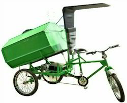 Battery Operated Garbage Container Cycle Rickshaw