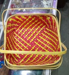 Colored Bamboo Basket