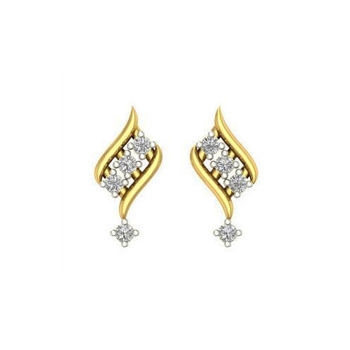 stud fashion french round kt drop mounts earrings diamond back big tw in de ct