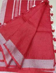 Pure Linen Cotton Saree
