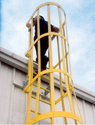 GRP Safety Caged Ladders