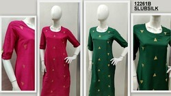 Silk kurya with zari embroidery festive