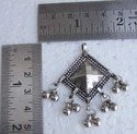 Diamond Shape Silver Plated Pendants