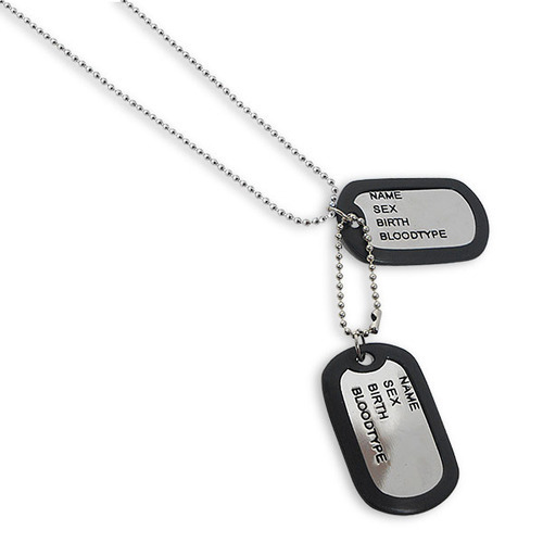 Double dog tag men pendant with chain double dog tag men pendant with chain mozeypictures Choice Image