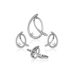 Ultra Shine 925 Sterling Silver Elegant Combo Set