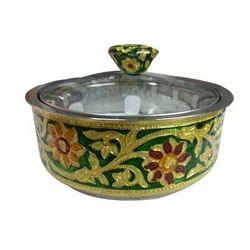 Meenakari Glass Top Pot