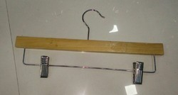Wooden Hanger with Lower Clips