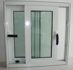 White Powder Coating Three Track Sliding Windows for Home and Residential