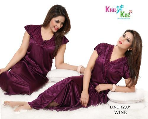 37a8d452a1d Sexy Satin Silky Two Pc Ladies Night Wear at Rs 350  pair(s ...