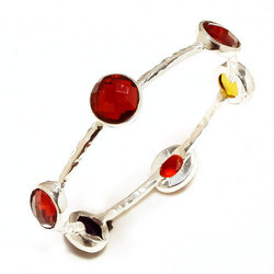 Arts Jewels Silver Plated Red Onyx Bracelet