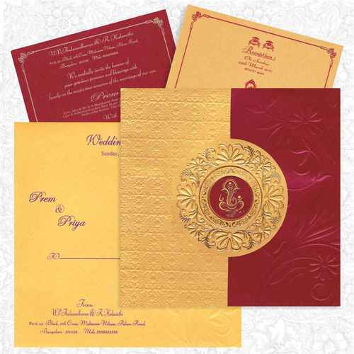 King of cards india pvt ltd manufacturer of wedding cards read more maroon gold card stopboris Gallery