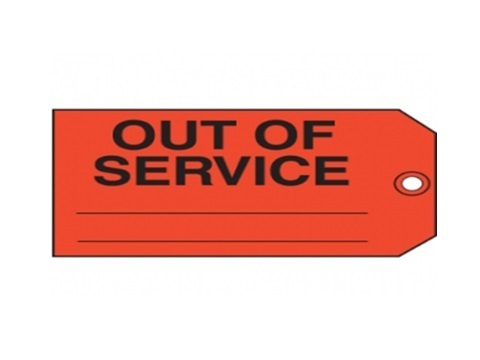 5S Out Of Service Label