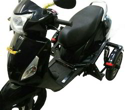 Side Wheel Attachment On TVS Wego
