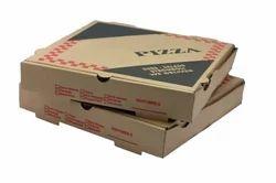 Kraft Paper Printed Pizza Box, Rectangle