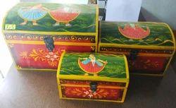Handcrafted Sheesham Wood Safekeep Box Set