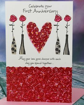 Happy first anniversary greeting card at rs 50 greeting cards id happy first anniversary greeting card m4hsunfo