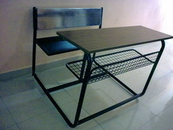 Steel Desk with Lattice Self