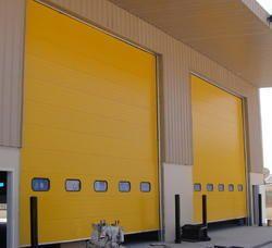 Yellow Standard Sectional Garage Door