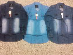 Men Plain Denim Shirts