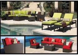 Swimming Pool Rattan Furniture