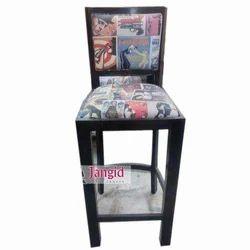 Black Jangid Art And Crafts Wooden Upholstered Bar Furniture