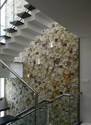 Sandstone Leaf Staircase Mosaic Tiles