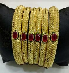 6pc Gold Plated Bangle