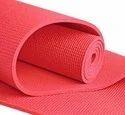 Plastic Yoga Mat Red