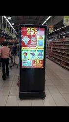 Digital Kiosk Standies Signage For Supermarkets