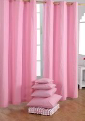 Pink Cotton Curtains
